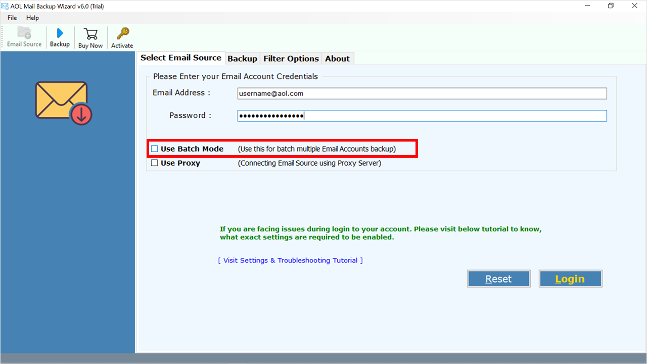 batch convert AOL emails  PST file