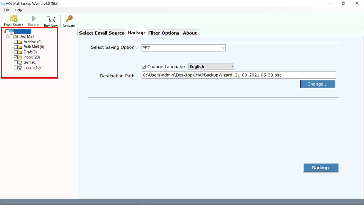 select flies to export Outlook